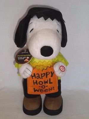 New HALLMARK Plush Animated Musical FRANKENBEAGLE SNOOPY Halloween Frankenstein