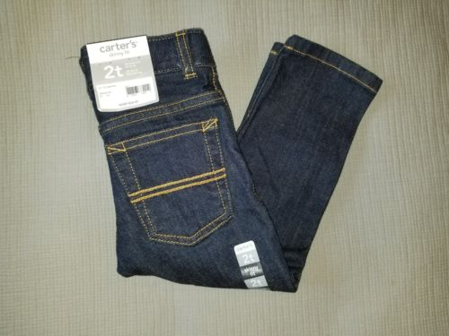 Carter's Skinny Fit Adjustable Waist Dark Wash Jeans, Boys 2T.  *Free Shipping*