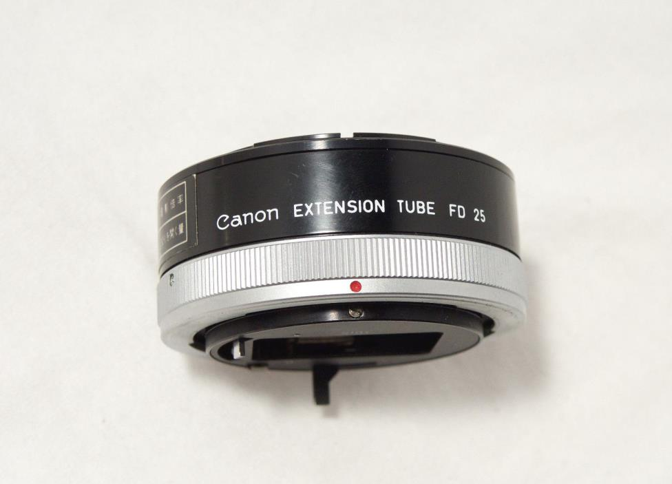 Canon Extension Tube FD 25 for FD mount SLR Canon AE Series Film Camera