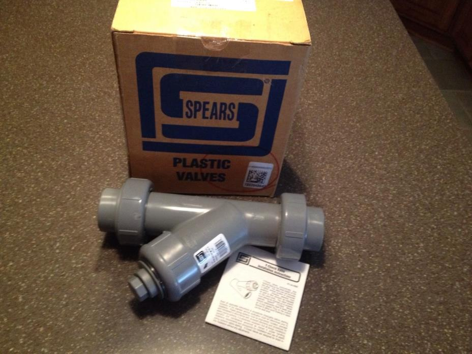 Spears Y-Check Valve Union FIPT 1 1/4