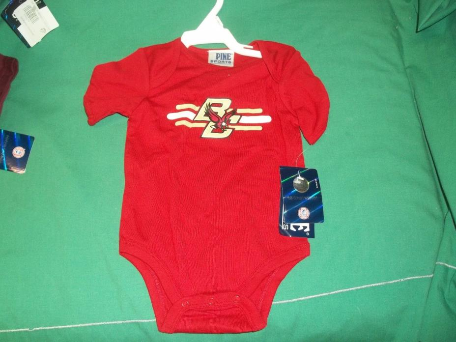 Boston College One Piece Size 6-9 Months Pine Sports NEW with TAGS Maroon