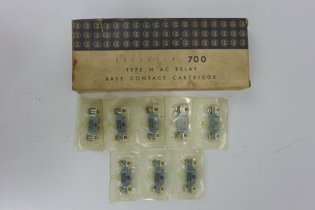 NIB Allen Bradley 700-C2 Type N AC Relay Base Contact Cartridge ~ Lot of 8