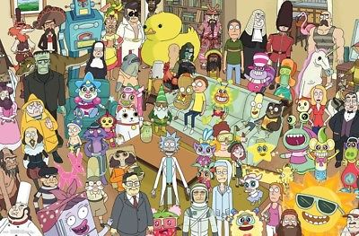 CARTOON NETWORK ADULT SWIM RICK AND MORTY TOTAL RICKALL POSTER 34x22 NEW