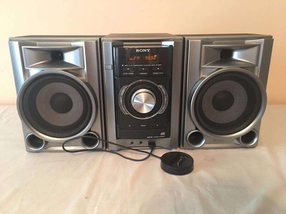 Sony MHC-EC68P Mini HI-FI Component System MP3  CD-R/RW Playback - No Remote