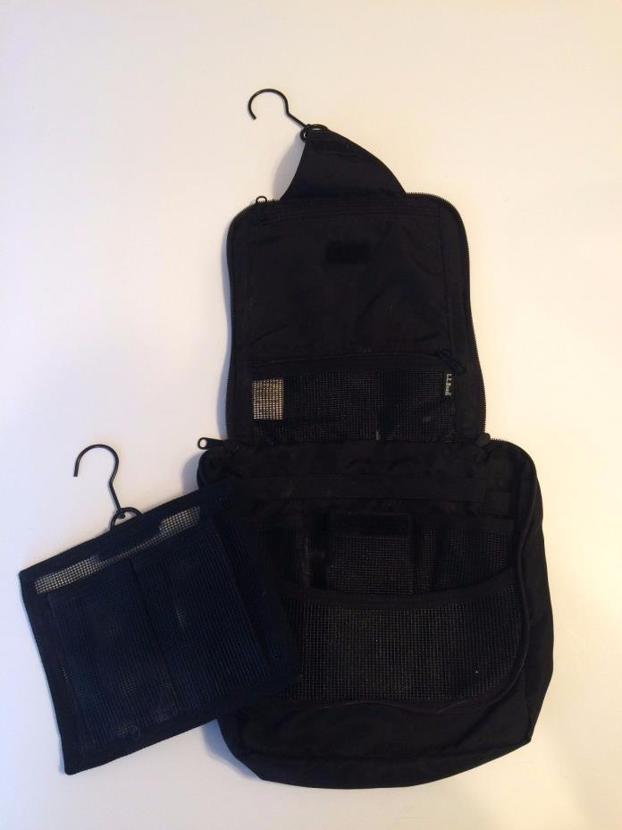Travel Bag Black Toiletries Organizer Makeup Pouch Toiletry Case Folding EUC