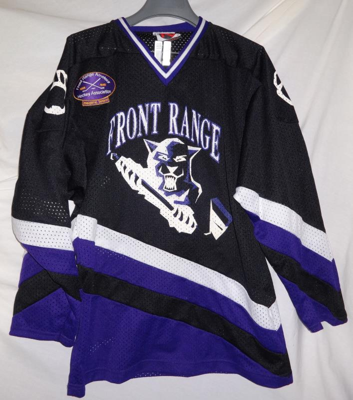 FRONT RANGE PANTHERS Game Used Worn #12 Hockey Jersey M Inaugural Season Patch
