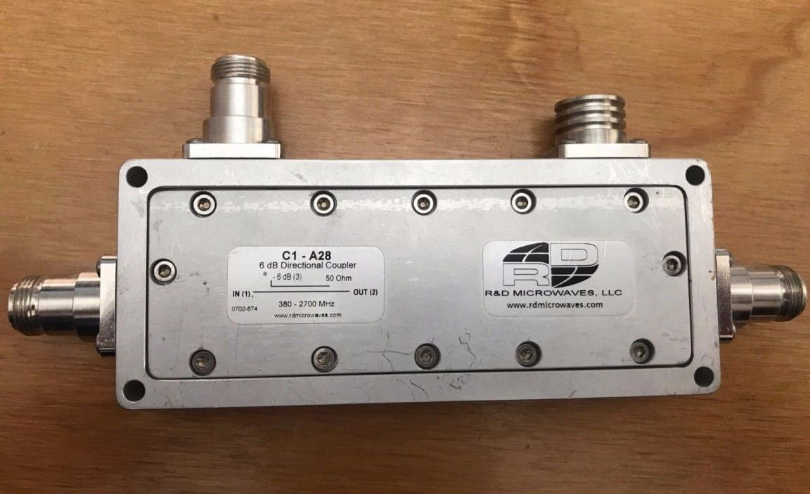 R&D Microwave 6db directional coupler C1-A28 698-2700 MHz