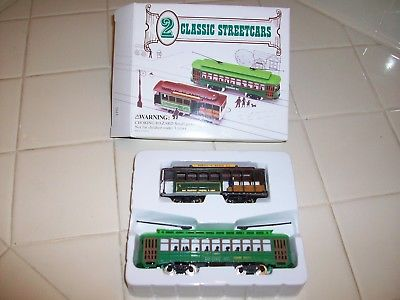 2 HO Classic Streetcars Powell & Mason Sts Cable Car Desire Trolley Mint/Boxed