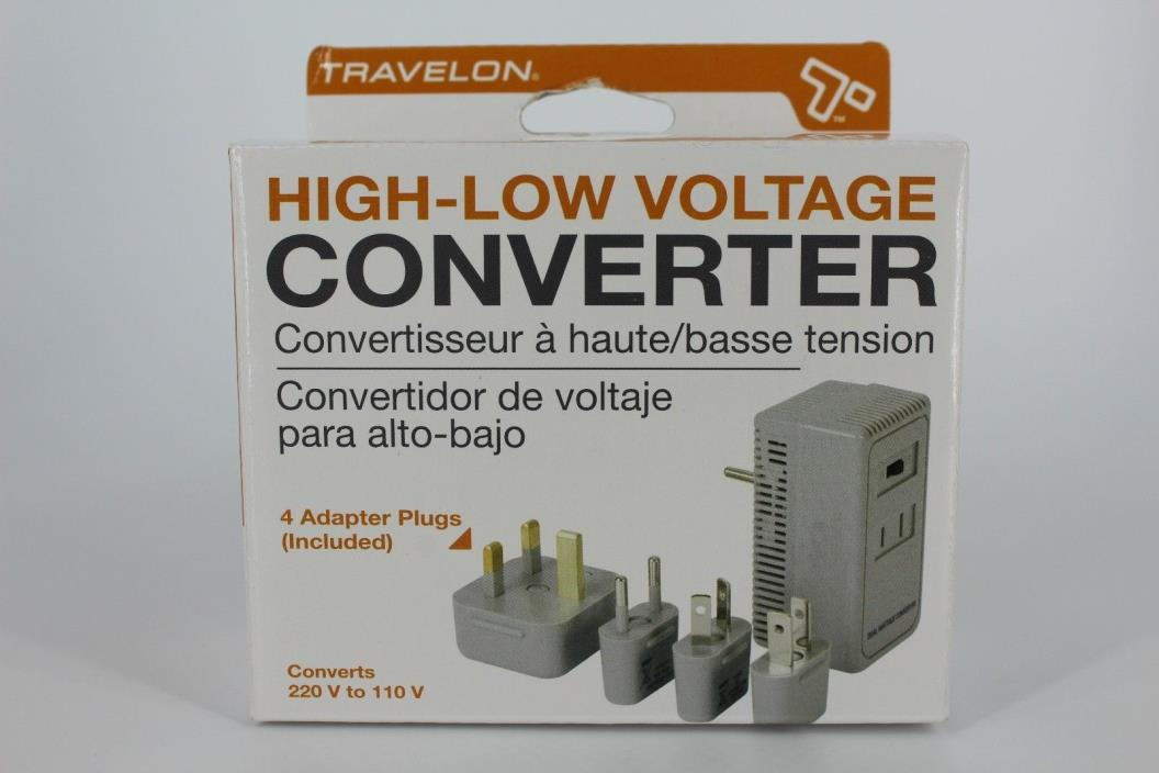 Travelon High-Low Voltage Converter Converts 220V to 110V New