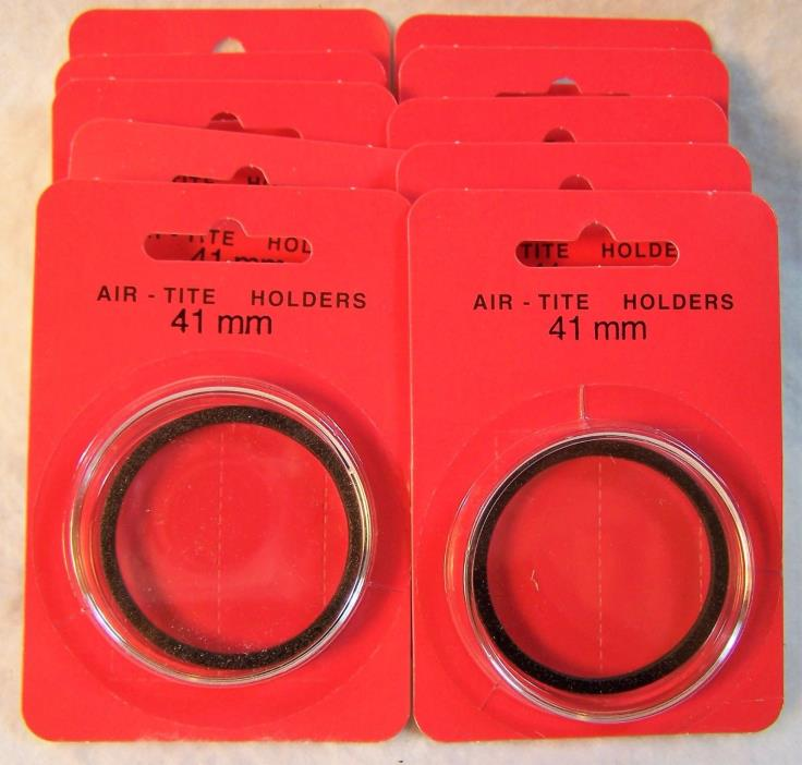 41mm Air-Tite Black Ring Coin Holders, Box of 10