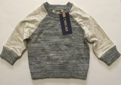 Grey Cherokee Sweater 12 Months Baby Toddler Boy Cute Warm Fall Winter