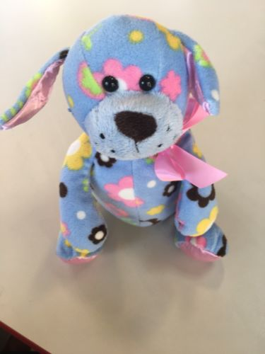 Ganz Puppy with flowers on multicolored L 11