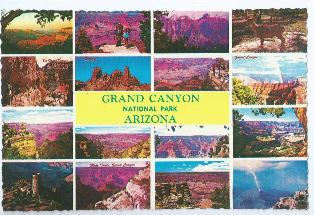 Arizona, Grand Canyon National Park, 16 Scenic Views, Unposted- Postcard