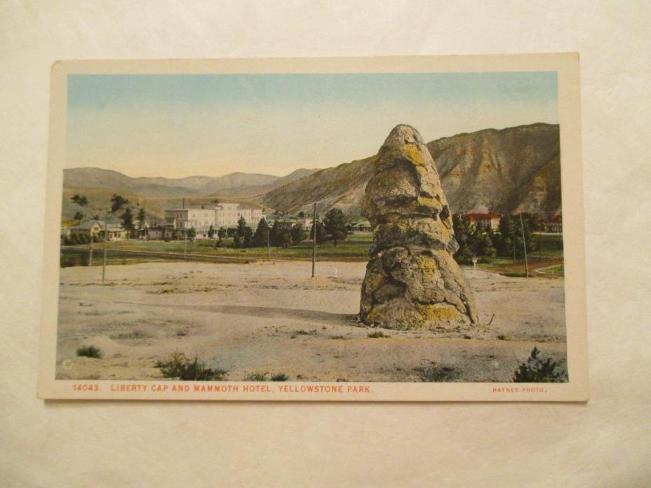 Liberty Cap and Mammoth Hotel Yellowstone National Park Postcard