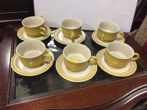 Premiere Yellow P5300 Set The Cup And Plates 12  Pc Perfect Collectible Vintage