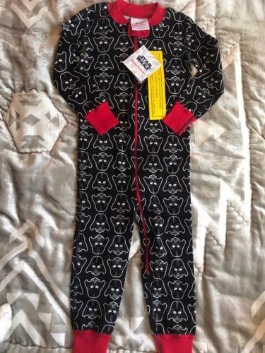 Hanna Andersson Star Wars Organic Darth Vader Sleeper Pajamas New NWT 90 3T