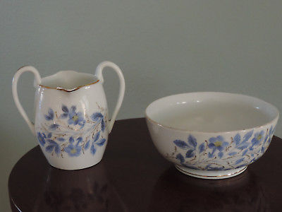1850-1890 Cereal Bowl & Very Rare Double Spouted Small Pitcher