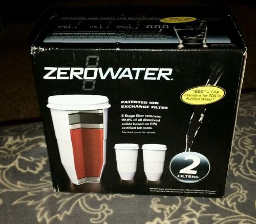 Avanti ZeroWater Replacement Filtering Bottle Filter, 2/Pack