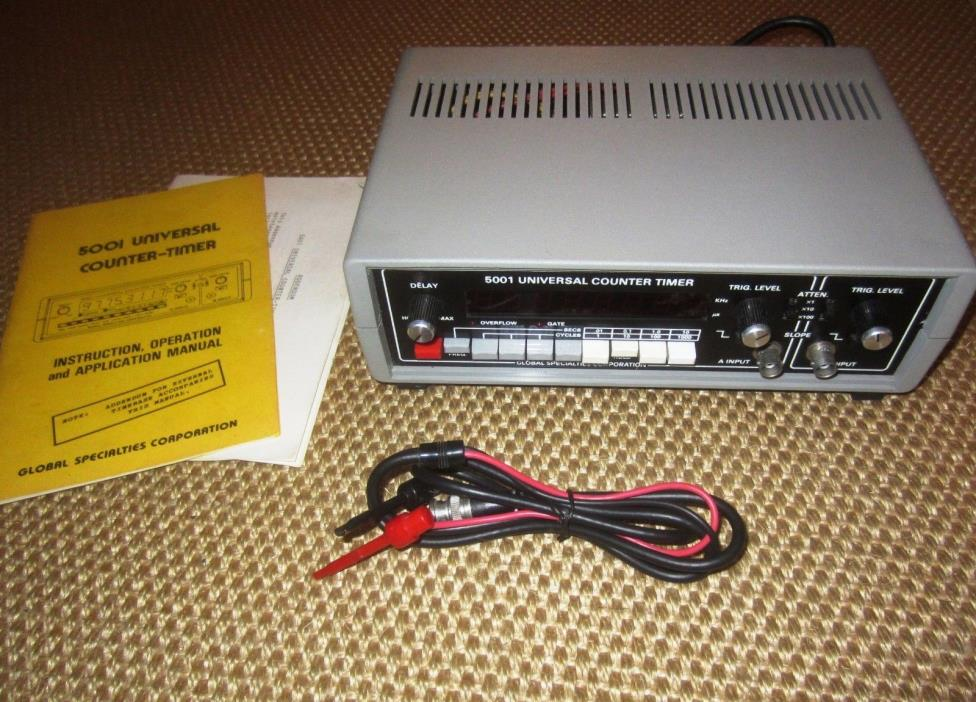 Global Specialties 5001 Universal Counter Timer,  with Manual and Probe