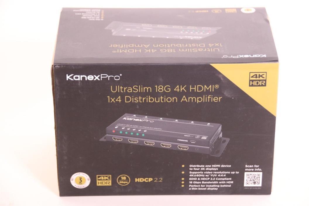 Kanex Pro SP-1X4SL18G Ultra Slim 18G HDMI 1x4 4-way Distribution Amplifier