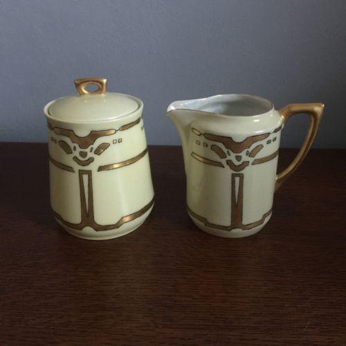 Altwasser Creamer And Sugar Bowl Vintage Antique