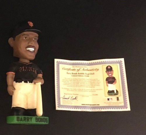 Barry Bonds Bobblehead Washington Mint San Francisco Giants with certificate