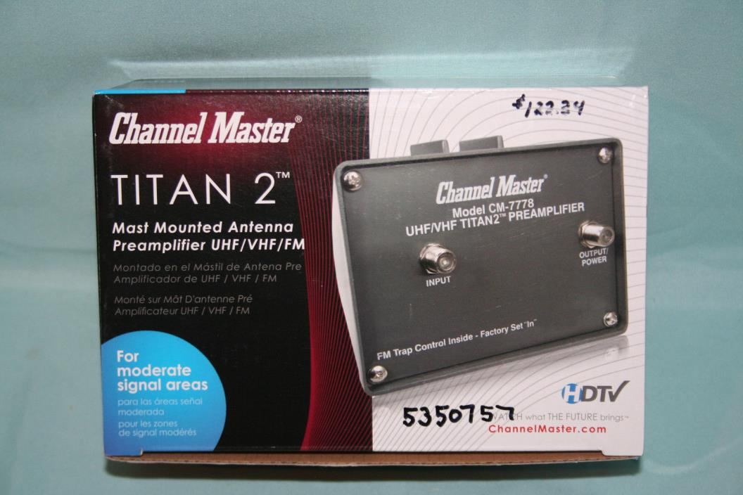 The Channel Master CM 7777 is a high gain, low noise preamplifier used for weak