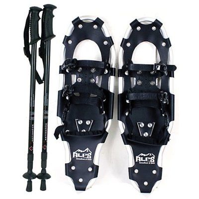 Snowshoes Performance With Pair Antishock Poles Free Carrying Tote Bag (30
