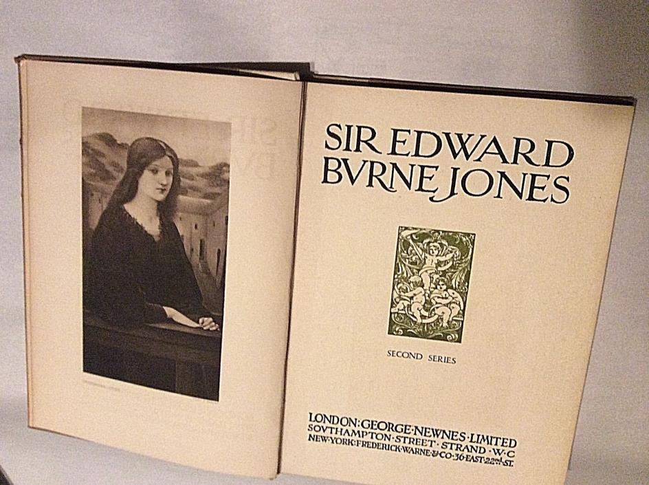 SIR EDWARD BURNE JONES   Second Series  London  B&W Illus  HB 1907   BURNE JONES