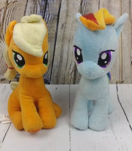 My little pony plush lot of 2 Rainbow Dash and Apple Jack 12