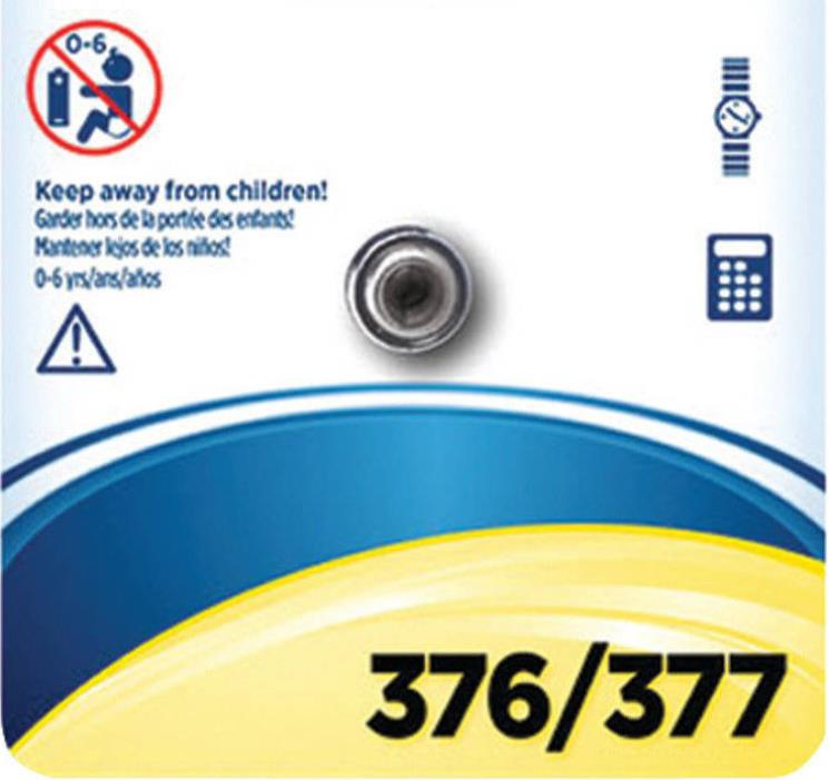 Energizer 377/376 Watch Batteries SR626W SR626SW LR626 2PK Replacement Eunicell