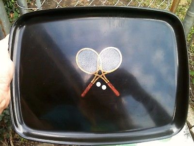 Vintage Couroc of California Tray Inlay Tennis Rackets 12.5