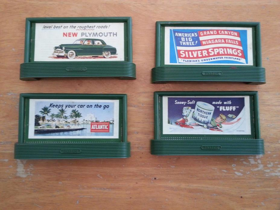 One set of four Vintage Lionel #310 O scale billboards dusty and crusty.