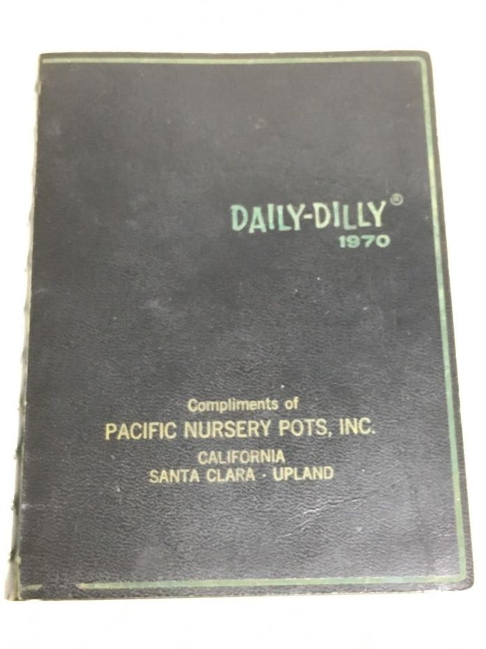 Vintage 1970 Daily Dilly Date Book Dirty Jokes Funny Stories Black Unused FREE