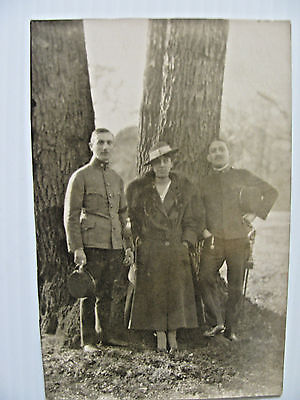 RPPC 1917 WWI German Soldiers, Army, Military Real Photo Post Card, War