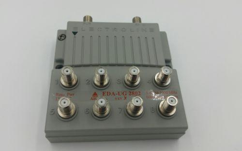 Electroline EDA-UG2802 Zero-Loss 8-port CATV Amp-Splitter