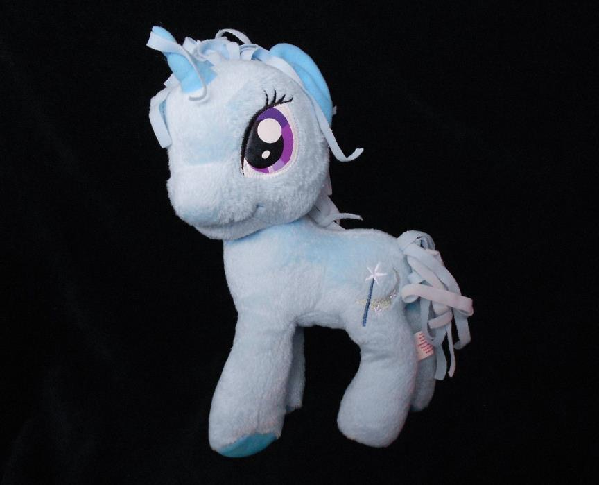 My Little Pony Trixie Lulamoon Plush Stuffed Animal Fabric Hair Mane Blue MLP