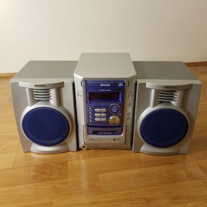 AIWA XR-M191 STEREO CD CASSETTE RADIO CX-LM191U W/ SPEAKERS / TESTED!