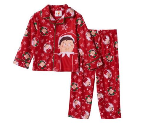 NEW! Elf on the Shelf Two Piece Long Sleeve Top & Pants Pajama Set ~ Toddler 4T