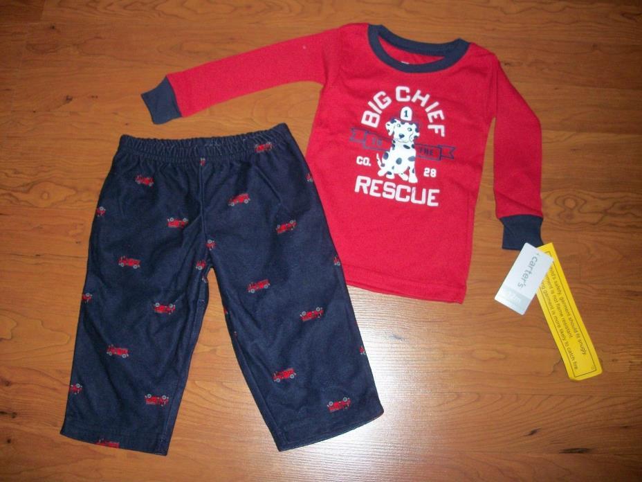 New with tags, boys Carters 2 piece pajamas, size 12 mo,