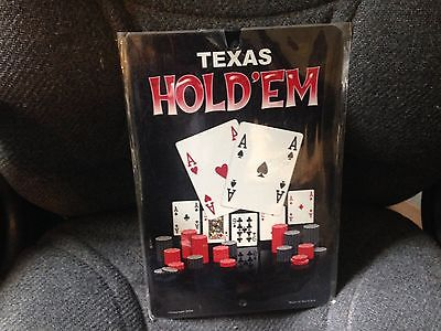 NEW TEXAS HOLD 'EM TIN SIGN - 8