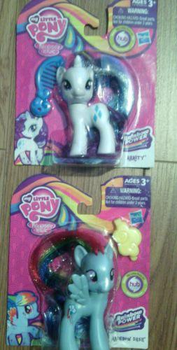 NEW!!! 2- My Little Pony Rainbow Power Rainbow Dash AND Rarity Figure NIB
