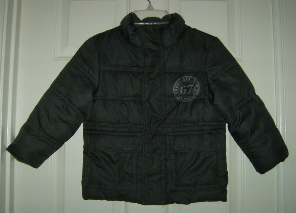 Boys Charcoal Zip Winter Jacket, Excellent Condition, Size 4T