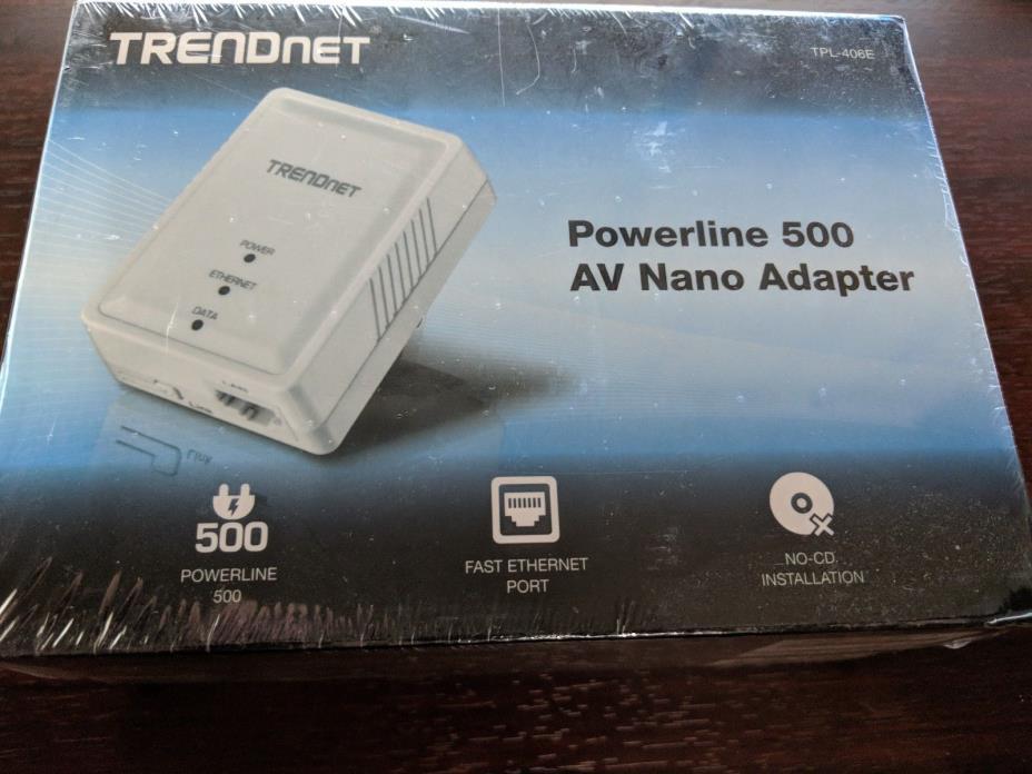 [Brand New] TRENDnet Powerline 500 AV Mini Network Single Adapter (TPL-406E)