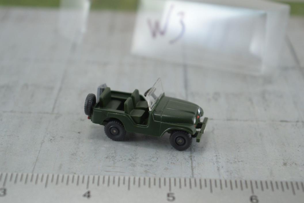 Wiking US Army Military Jeep 1:87 HO Scale (HO3)