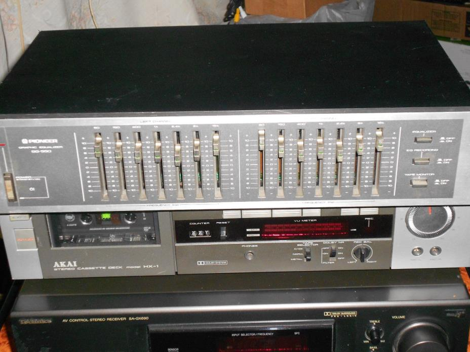Pioneer SG-550 Vintage 1980s Graphic Equalizer EQ Component System