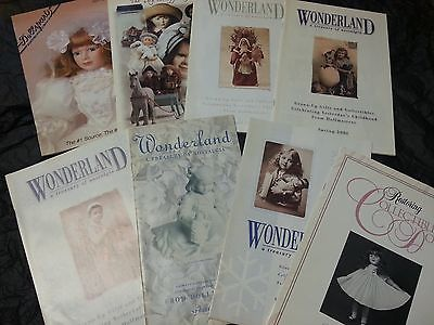 Wonderland a treasury of nostalgia - Lot of 8 doll catalogs -  Dollsparts 1995