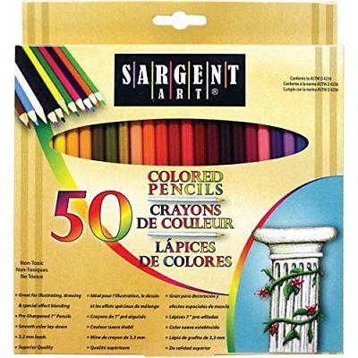 Sargent Art Premium Coloring Pencils Pack of 50 Assorted Colors