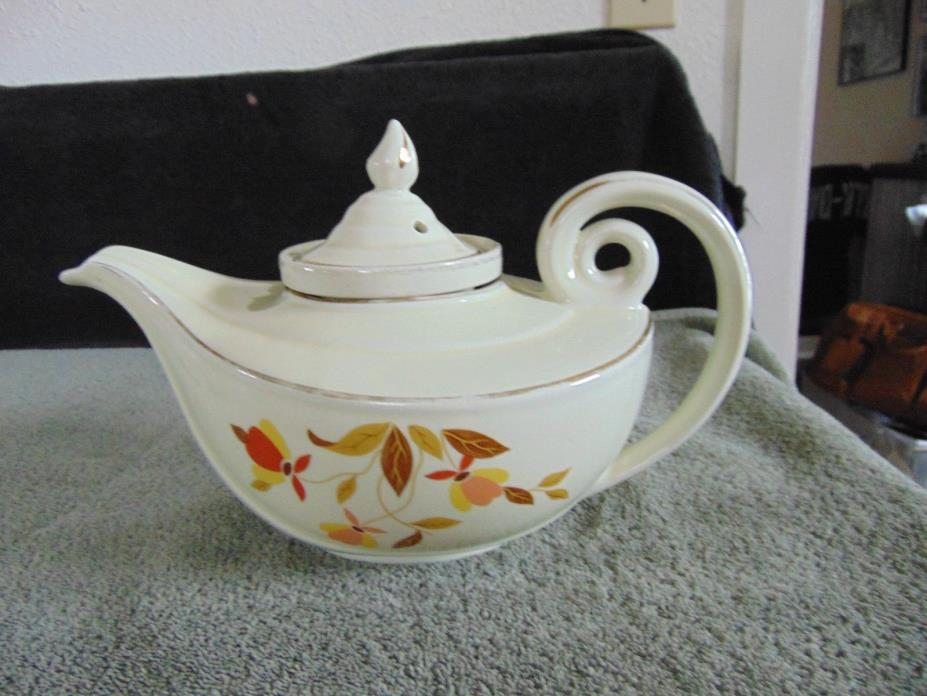 HALL'S SUPERIOR KITCHENWARE - AUTUMN LEAF - TEAPOT ALLADIN STYLE