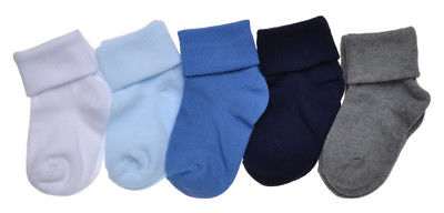 5 pairs of Baby Boys Socks - Roll Top Socks
